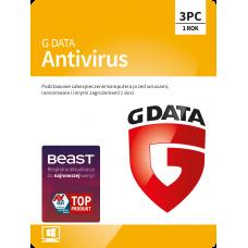 Antivirus software G Data Antivirus - 3 devices / 1 year