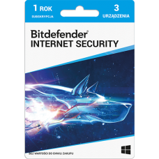 Bitdefender Internet Security - 3 devices / 1 year