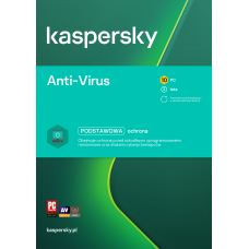 Antivirus software Kaspersky Anti-Virus 10 devices / 2 years