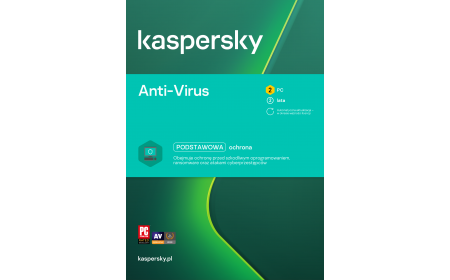 Antivirus software Kaspersky Anti-Virus 2 devices / 2 years