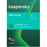 Antivirus software Kaspersky Anti-Virus 2 devices / 1 year