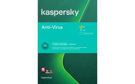 Antivirus software Kaspersky Anti-Virus 5 devices / 1 year