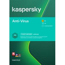 Antivirus software Kaspersky Anti-Virus 10 devices / 1 year