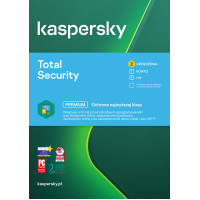 Antivirus software Kaspersky Total Security 2 devices / 1 year