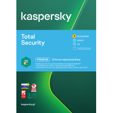 Antivirus software Kaspersky Total Security 3 devices / 1 year
