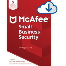 Antivirus software McAfee® Small Business Security 5 devices / 1 year