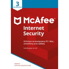 Antivirus software McAfee® Internet Security 3 devices / 1 year