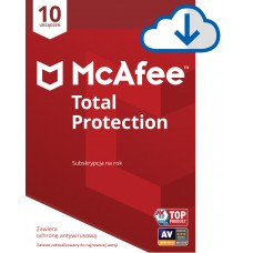 Antivirus software McAfee® Total Protection 10 devices / 1 year