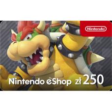 Nintendo eShop funds 250 PLN