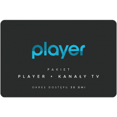 PLAYER + TV CHANNELS - 30 days