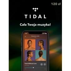 TIDAL Gift card 120 PLN