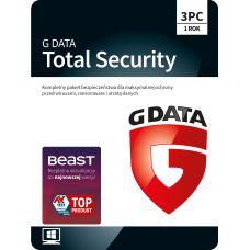 Antivirus software G Data Total Security - 3 devices / 1 year